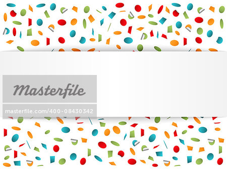 Confetti background with place for your text, vector eps10 illustration