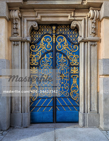 Traditional european vivid facade with entance door Stock Photo - Budget Royalty-Free, Image code: 400-08433342
