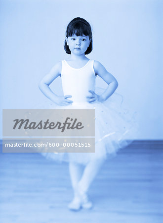 Portrait of Young Girl Dressed in Ballerina Costume Stock Photo - Premium Royalty-Free, Image code: 600-00051515