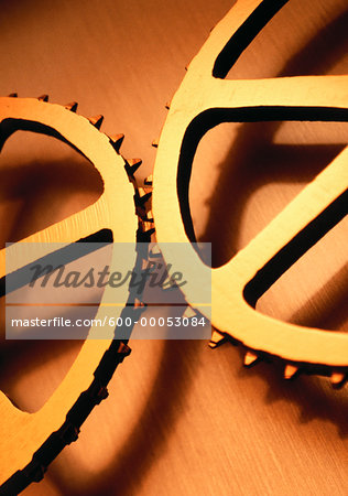 Close-Up of Gears Stock Photo - Premium Royalty-Free, Image code: 600-00053084