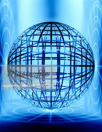 Wire Globe Stock Photo - Premium Royalty-Free, Image code: 600-00072806