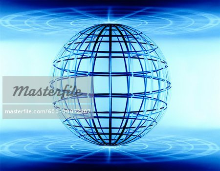 Wire Globe Stock Photo - Premium Royalty-Free, Image code: 600-00072807