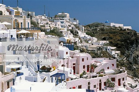 Cityscape, Thira, Santorini, Greece