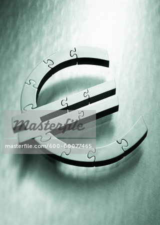 Euro Symbol as Jigsaw Puzzle Stock Photo - Premium Royalty-Free, Image code: 600-00077465