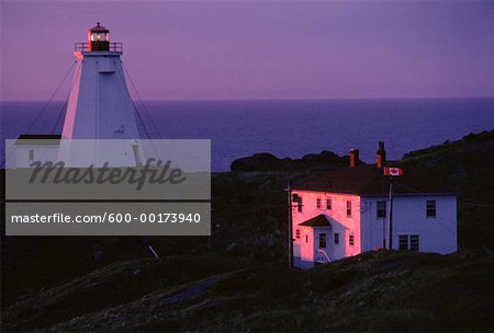 Swallowtail Lighthouse at Dawn, Grand Manan Island, New Brunswick, Canada Stock Photo - Premium Royalty-Free, Image code: 600-00173940