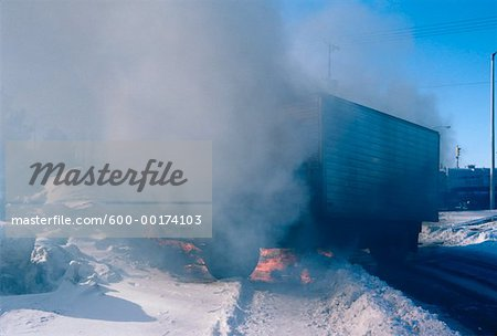 Burning Truck, Ontario, Canada Stock Photo - Premium Royalty-Free, Image code: 600-00174103