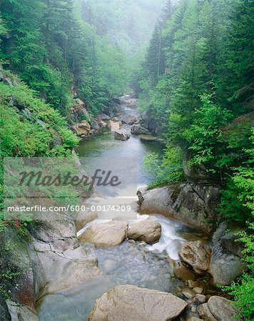 Pemigewasset River, Franconia Notch State Park, New Hampshire, USA Stock Photo - Premium Royalty-Free, Image code: 600-00174209
