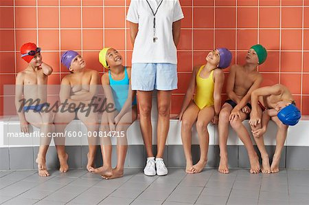 Swimmers in Locker Room Stock Photo - Premium Royalty-Free, Image code: 600-00814715