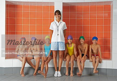 Swimmers in Locker Room Stock Photo - Premium Royalty-Free, Image code: 600-00814716