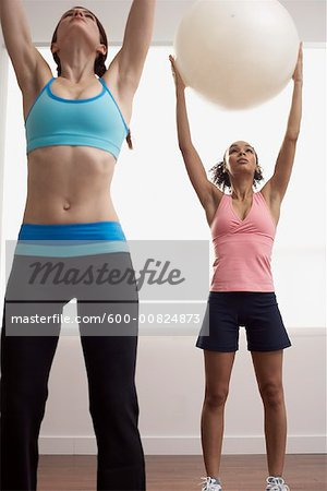 Women in Exercise Class Stock Photo - Premium Royalty-Free, Image code: 600-00824873