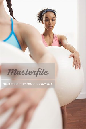 Women in Exercise Class Stock Photo - Premium Royalty-Free, Image code: 600-00824878