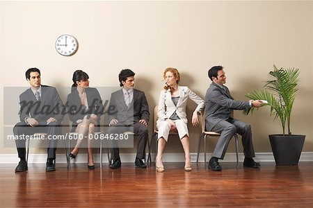 Business People in Waiting Area Stock Photo - Premium Royalty-Free, Image code: 600-00846280
