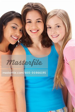 Portrait of Girls Stock Photo - Premium Royalty-Free, Image code: 600-00866195