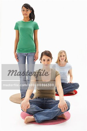 Portrait of Girls Stock Photo - Premium Royalty-Free, Image code: 600-00866300