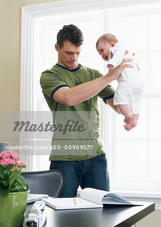 Father With Baby Stock Photo - Premium Royalty-Free, Image code: 600-00909577