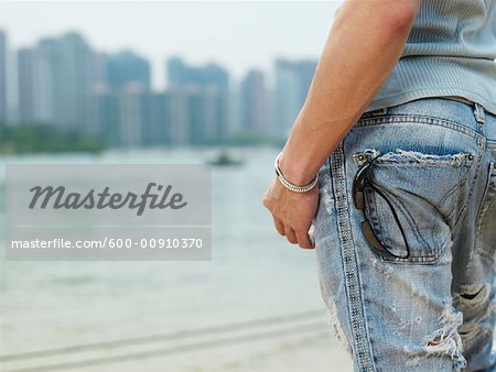 Close-up of Man's Jeans Stock Photo - Premium Royalty-Free, Image code: 600-00910370