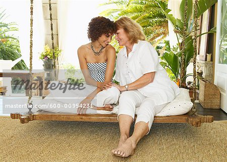 Portrait of Women on Porch Swing