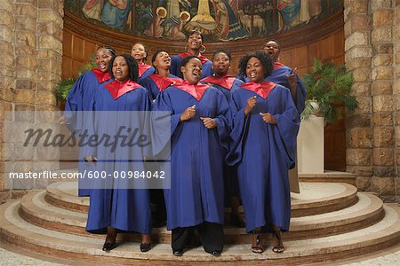 Gospel Choir Stock Photo - Premium Royalty-Free, Image code: 600-00984042