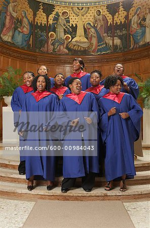 Gospel Choir Stock Photo - Premium Royalty-Free, Image code: 600-00984043