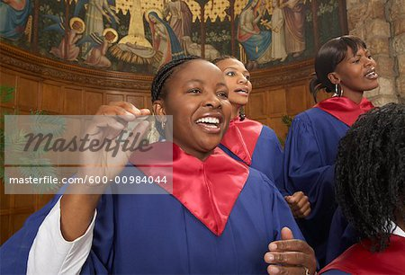 Gospel Choir Stock Photo - Premium Royalty-Free, Image code: 600-00984044