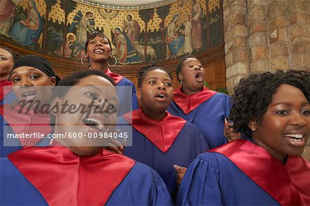 Gospel Choir Stock Photo - Premium Royalty-Free, Image code: 600-00984045