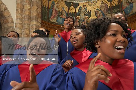 Gospel Choir Stock Photo - Premium Royalty-Free, Image code: 600-00984046