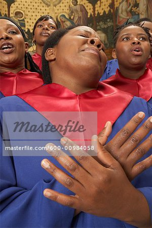Gospel Choir Stock Photo - Premium Royalty-Free, Image code: 600-00984058