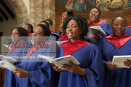 Gospel Choir Stock Photo - Premium Royalty-Free, Image code: 600-00984064