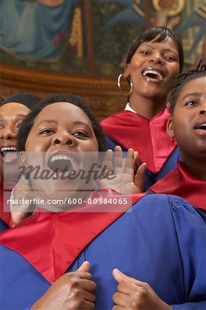 Gospel Choir Stock Photo - Premium Royalty-Free, Image code: 600-00984065