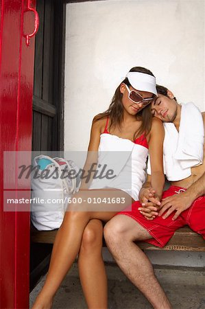 Couple Holding Hands Stock Photo - Premium Royalty-Free, Image code: 600-01041683