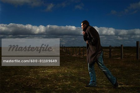 Man Outdoors Stock Photo - Premium Royalty-Free, Image code: 600-01109649