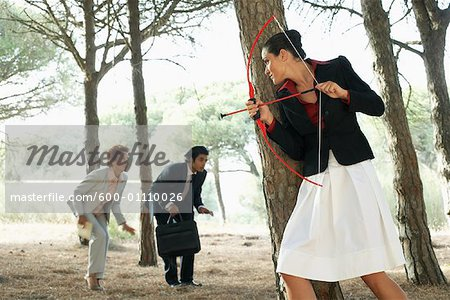 Businesswoman Hunting Business People Stock Photo - Premium Royalty-Free, Image code: 600-01110026