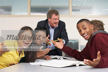 Teacher and Students in Classroom    Stock Photo - Premium Royalty-Free, Artist: Masterfile, Code: 600-01112280