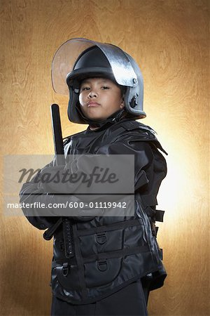 Boy Dressed as Policeman