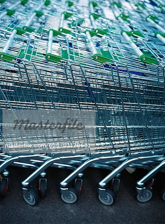 Grocery Carts Stock Photo - Premium Royalty-Free, Image code: 600-01120631