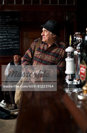 Portrait of Man in Pub Stock Photo - Premium Royalty-Free, Image code: 600-01123764