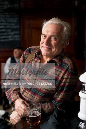 Portrait of Man in Pub Stock Photo - Premium Royalty-Free, Image code: 600-01123766