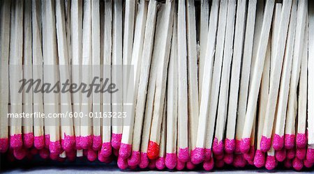 Close-Up of Wooden Matches Stock Photo - Premium Royalty-Free, Image code: 600-01163223