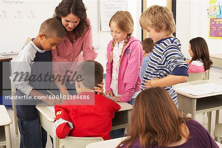 Students and Teacher in Classroom