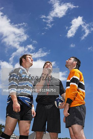 Rugby Players at Coin Toss Stock Photo - Premium Royalty-Free, Image code: 600-01196751