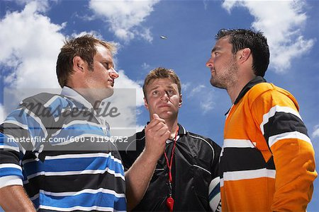 Rugby Players at Coin Toss Stock Photo - Premium Royalty-Free, Image code: 600-01196752