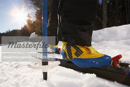 Close-Up of Person Skiing Stock Photo - Premium Royalty-Free, Image code: 600-01235194