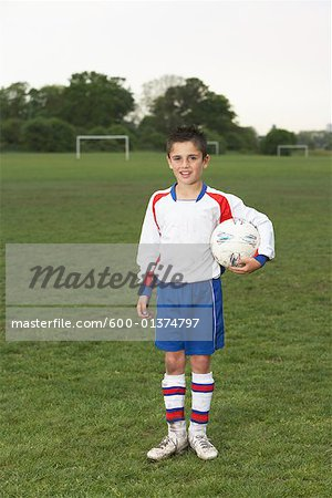 Portrait of Soccer Player Stock Photo - Premium Royalty-Free, Image code: 600-01374797