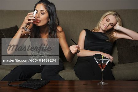 Women with Martinis Stock Photo - Premium Royalty-Free, Image code: 600-01459234