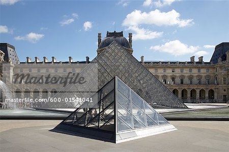 Pyramid at Louvre, Paris, France