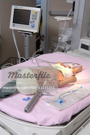 Baby Mannequin in Hospital Stock Photo - Premium Royalty-Free, Image code: 600-01595845