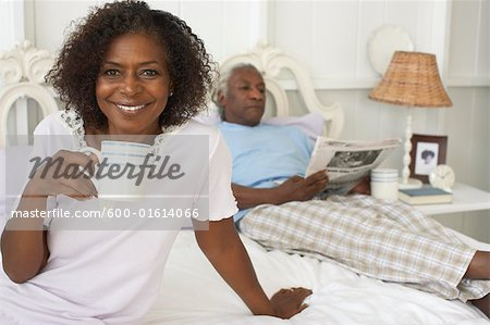 Couple in Bed Stock Photo - Premium Royalty-Free, Image code: 600-01614066