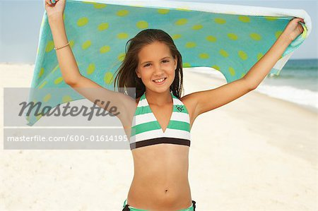 Girl on Beach Stock Photo - Premium Royalty-Free, Image code: 600-01614195