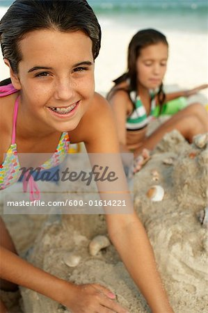 Portrait of Girl on Beach Stock Photo - Premium Royalty-Free, Image code: 600-01614221