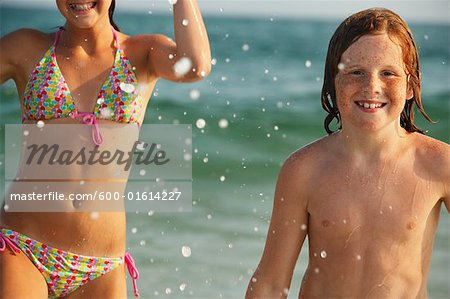 Portrait of Boy on Beach Stock Photo - Premium Royalty-Free, Image code: 600-01614227